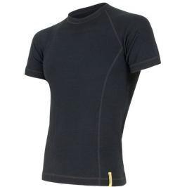 Sensor Double Face Merino Wool triko pánské krátký rukáv černá XXL