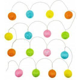 Retlux vlněné koule barevné s časovačem 16 LED teplá bílá