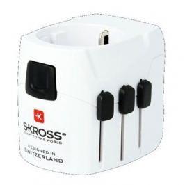 Skross Cestovní adaptér PRO Light USB, bílá