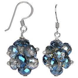 JwL Luxury Pearls Zářivé náušnice z broušených světle modrých krystalů JL0271 stříbro 925/1000