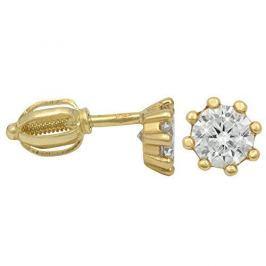 Brilio Zlaté náušnice s krystalem 236 001 00895 - 1,45 g zlato žluté 585/1000