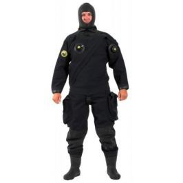 VIKING TRELLEBORG Oblek suchý VSN - přední zip s latexovou kuklou, Viking, MED