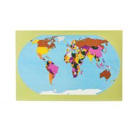 Montessori pomůcky Svět – mapa svlajkami