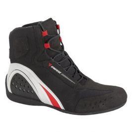 Dainese kotníkové boty MOTORSHOE D-WP JB vel.45 černá/bílá/červená