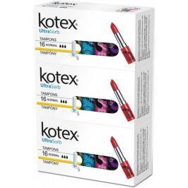 Kotex Tampony Ultra Sorb Normal 3x 16 ks
