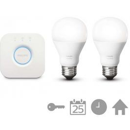Philips Hue 2 Set E27 White Starter Kit + bridge
