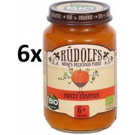RUDOLFS Dětské pyré sladká dýně - 6x190 g