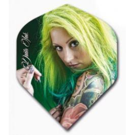 Designa Letky Darts Ink - Green Haired Girl F2484