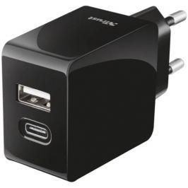 Trust Rychlonabíječka (USB-A; USB-C), černá