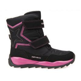 Geox dívčí zimní boty Orizont 29 černá/růžová
