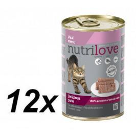 Nutrilove Cat paté VEAL 12 x 400g