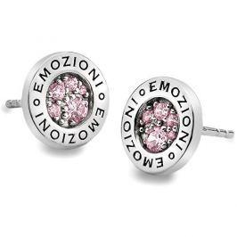 Hot Diamonds Sříbrné náušnice Emozioni Scintilla Pink Compassion EE002 stříbro 925/1000