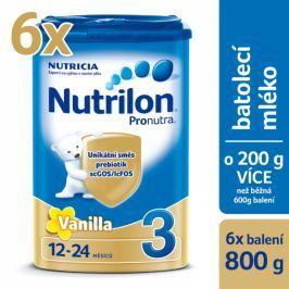 Nutrilon 3 Pronutra Vanilla - 6 x 800g Dětská mléka