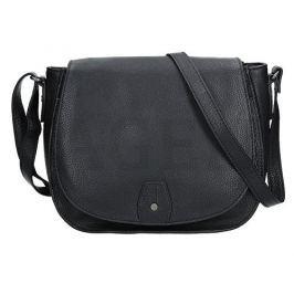Lagen Dámská kožená kabelka 23311 BLACK
