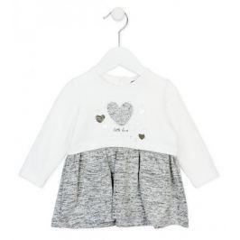 Losan dívčí šaty 68 béžová/šedá