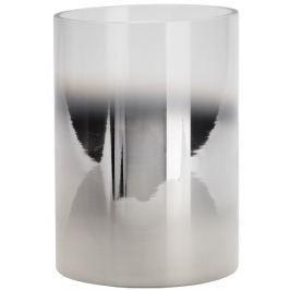 Wittkemper Svícen skleněný stříbrný, 17 cm