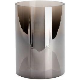 Wittkemper Svícen skleněný kouřový, 17 cm