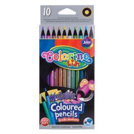Pastelky kulaté Colorino 10 barev metalické