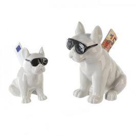 Papillon Kasička porcelánová Cool dog, 17 cm