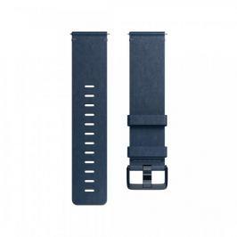 Fitbit Versa - kožený řemínek Midnight Blue, L