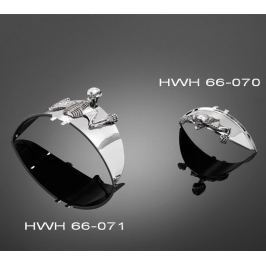 Highway-Hawk soška samolepící  SKULL 85mm (lebka), universální (1ks)