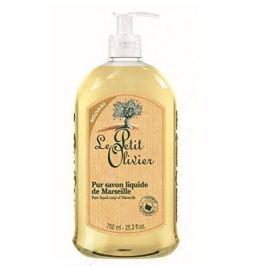 Le Petit Olivier Marseillské přírodní tekuté mýdlo s olivovým olejem Natural (Pure Liquid Soap) 750 ml