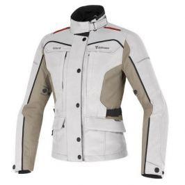 Dainese bunda dámská ZIMA LADY GORE-TEX vel.40 světle šedá/béžová/červená textil