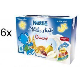 Nestlé Mlíčko s kaší ovocné - 6 x (2x200ml)