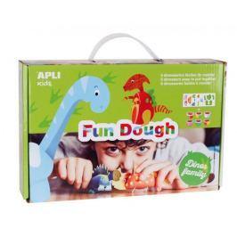 Modelovací hmota Apli Fun Dough/ 6 ks Dinosauři