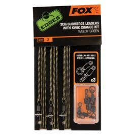 Fox Hotové Montáže Edges Submerge Leaders With Kwik Change Kit 30 lb 3 ks Brown