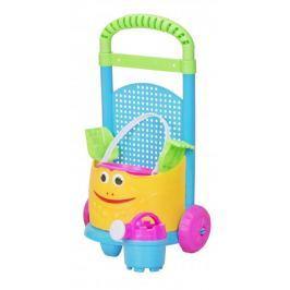 Let's play Barevný vozík se sadou na písečné hrátky zelený