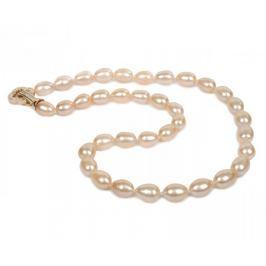 JwL Luxury Pearls Náhrdelník z růžových perel JL0055 stříbro 925/1000