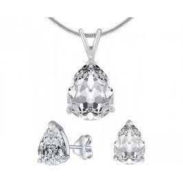 Silvego Stříbrný set šperků s čirým křišťálem JJJS8888 stříbro 925/1000