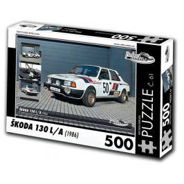 RETRO-AUTA© Puzzle č. 61 - ŠKODA 130 LA (1986) 500 dílků