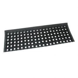 FLOMAT Gumová schodová protiskluzová rohož na hrubé nečistoty Honeycomb Step - 26 x 80 x 1,6 cm
