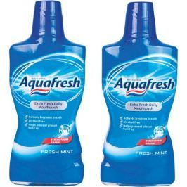 Aquafresh Fresh Mint ústní voda 2 x 500 ml