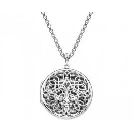 Hot Diamonds Přívěsek Hot Diamonds Large Circle Filigree Locket DP665 stříbro 925/1000