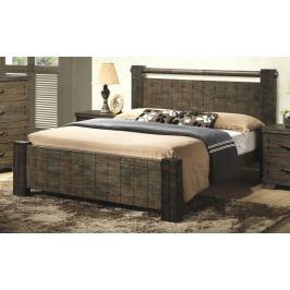 DeTAVOLA, postel 180x200 cm s roštem, masiv