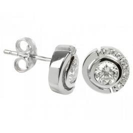 Silver Cat Stříbrné náušnice s krystaly SC081 stříbro 925/1000