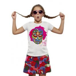 KlokArt dívčí tričko Mini Stella Draws 116 bílá