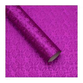 Luxusní strukturovaný balicí papír, fialový, vzor spirály, 5 archů