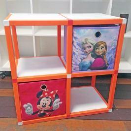 Dětský regál MODlife 4 + 2 úložné boxy Frozen A