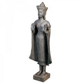 Papillon Soška Buddha v dřevěném designu, 92 cm, tmavě hnědá