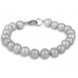 JwL Luxury Pearls Náramek z pravých šedých perel JL0359 stříbro 925/1000