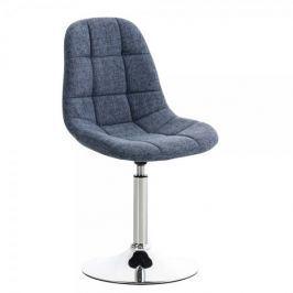 BHM Germany Jídelní otočná židle Miley textil, modrá Jídelní židle