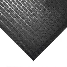 Černá gumová protiskluzová průmyslová rohož - 85 x 75 x 0,6 cm Pracovní, průmyslové