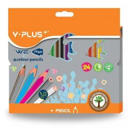 Pastelky trojhranné Y-Plus We fish  24 barev