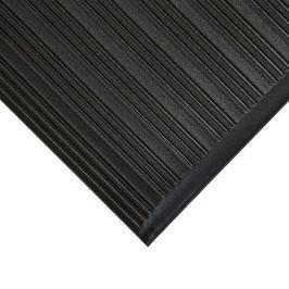 Černá gumová protiskluzová protiúnavová průmyslová rohož - 150 x 90 x 0,9 cm Pracovní, průmyslové