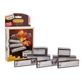 Hohner Hot Metal ValuePack (C-, G-, A-major) Sada foukacích harmonik Foukací harmoniky