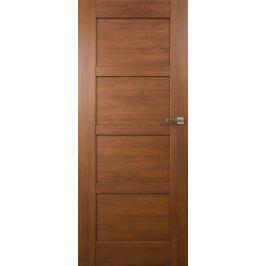 VASCO DOORS Interiérové dveře PORTO plné, model 1, Ořech, A 80 cm, pravé